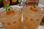 Fresh summer peach cocktails