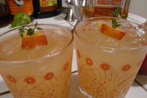 Fresh summer peach cocktails
